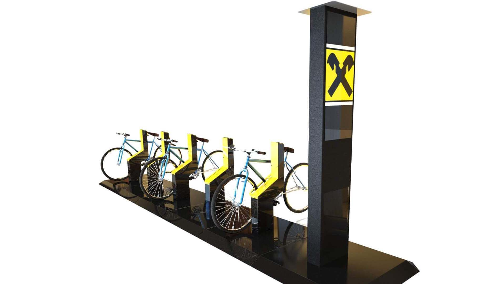 Advetising panel option for bike racks