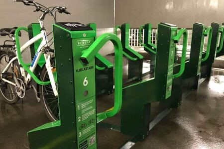 Bicycle parking options for garage