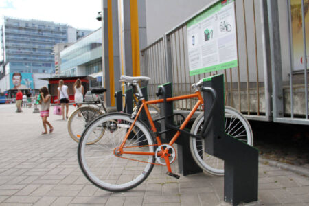 Bike parking in city center