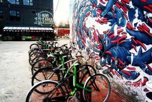 Bike rack and art