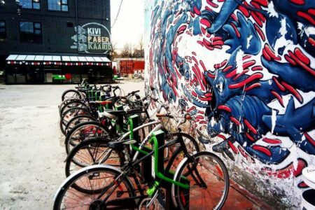Bike rack and art