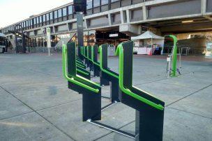 Bike racks with solar panel