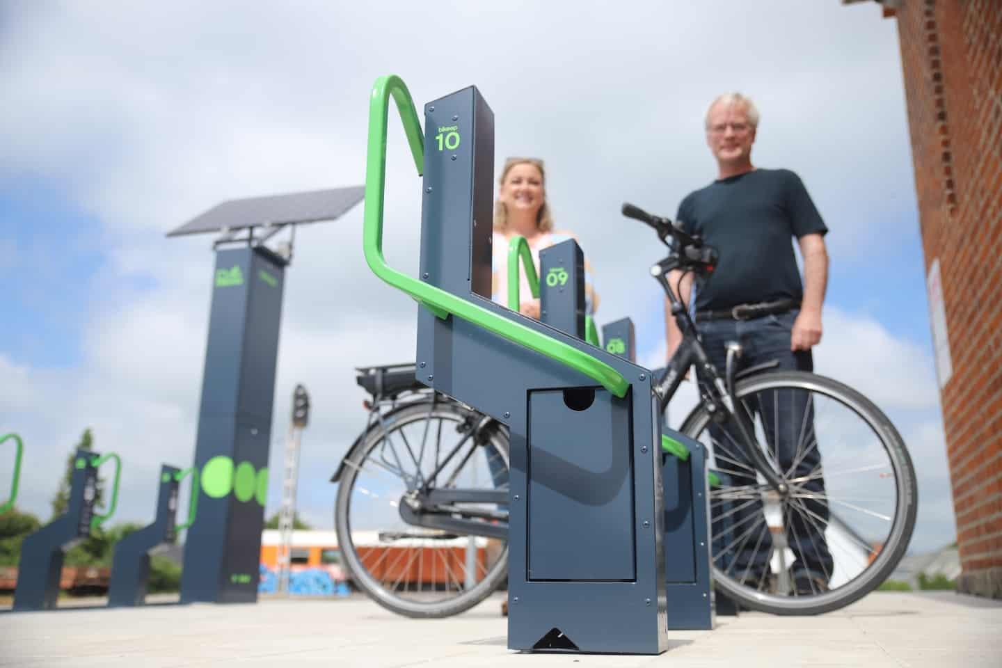 Denmark now offers secure bike parking and charging with solar power