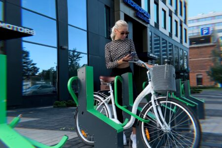 Commercial property bike parking-Bikeep