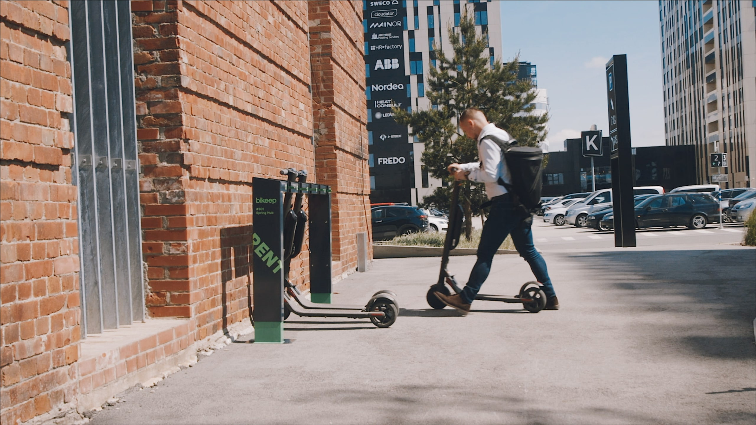 Bikeep's new scooter station in the March issue of Landscape Architecture Magazine (LAM)