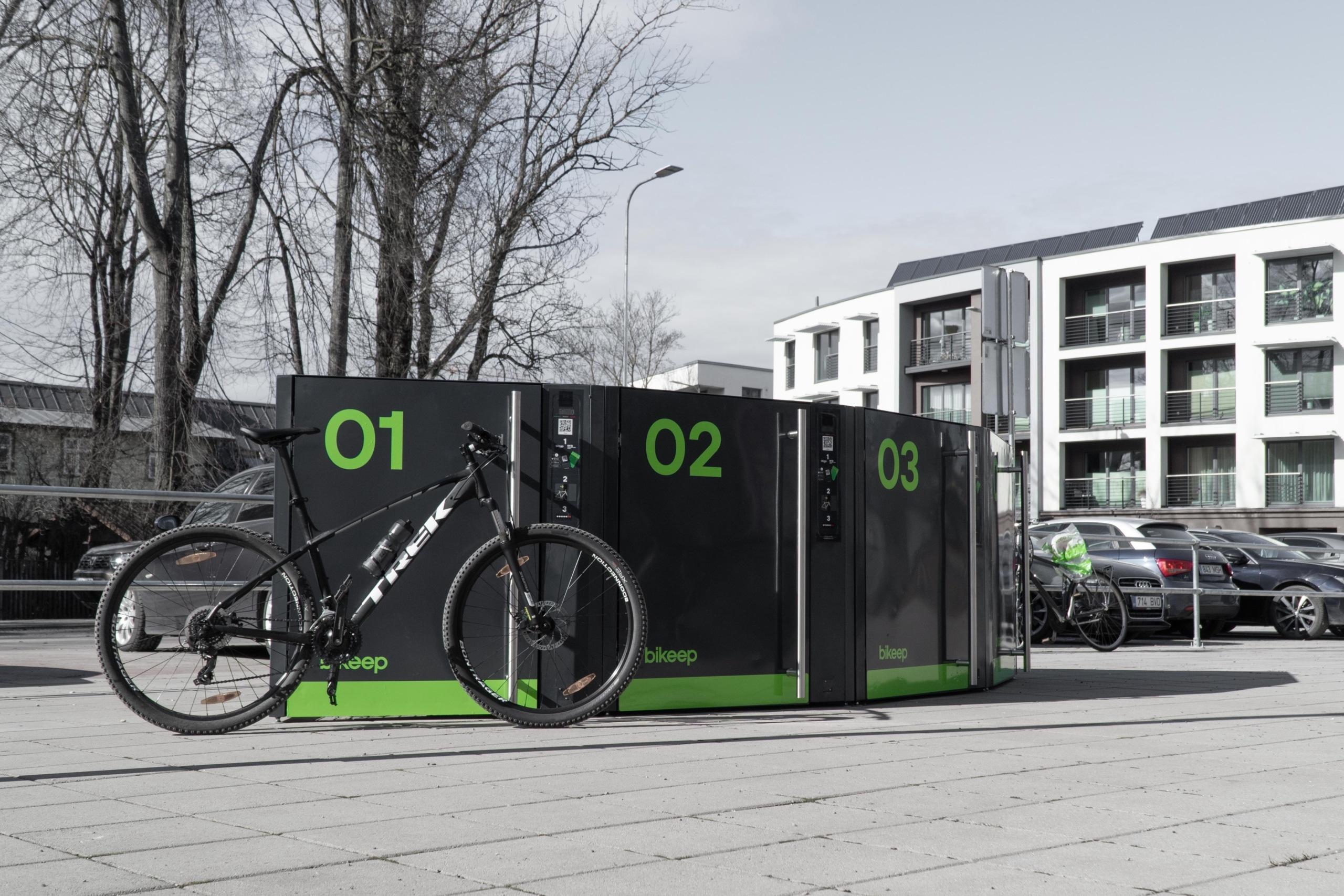 Bikeep lockers in transit stations enable municipalities plan urban commute more efficiently