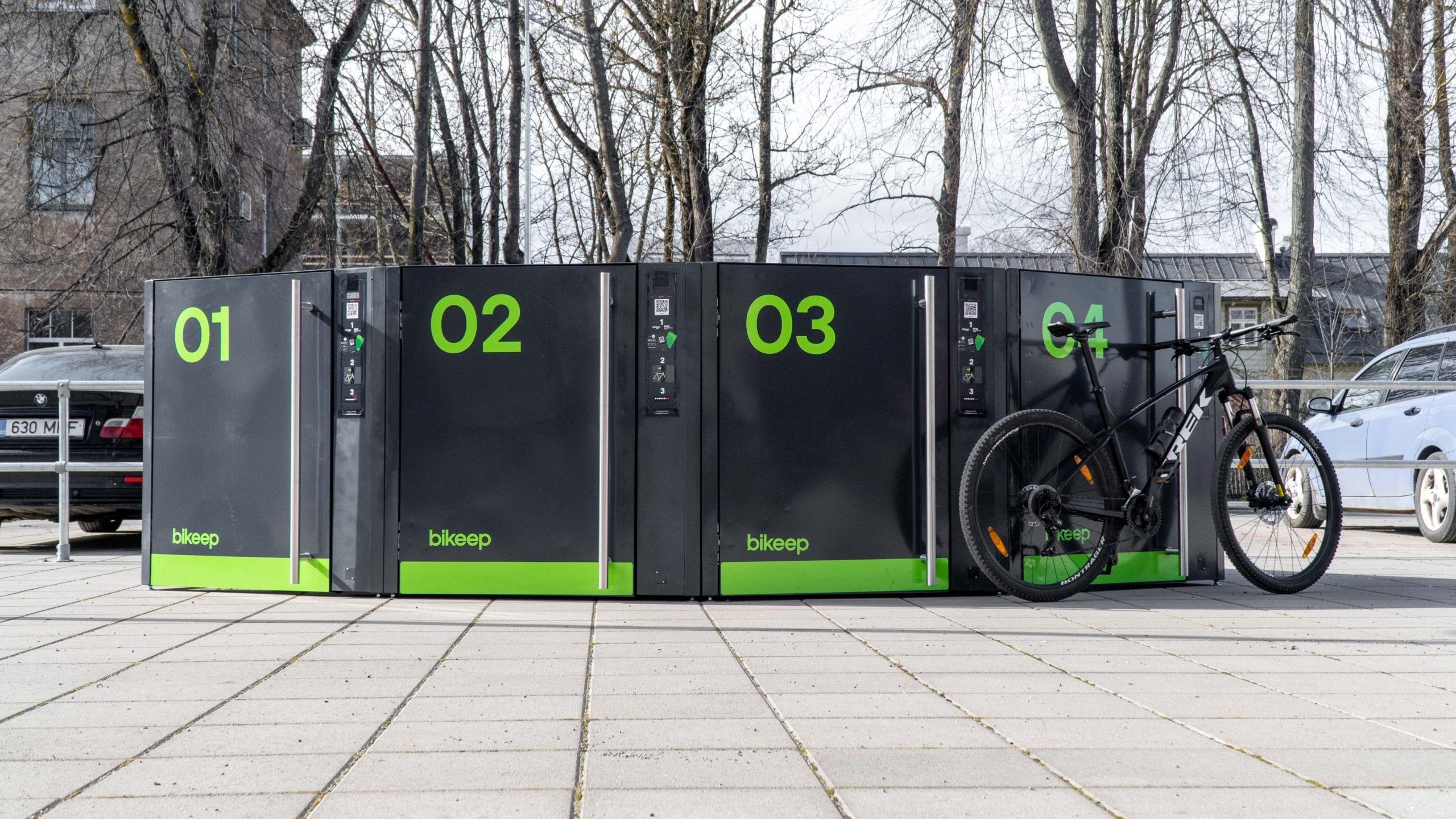 Tallinn installs Bikeep Smart lockers in public transport stops in the city centre as part of its smart city concept