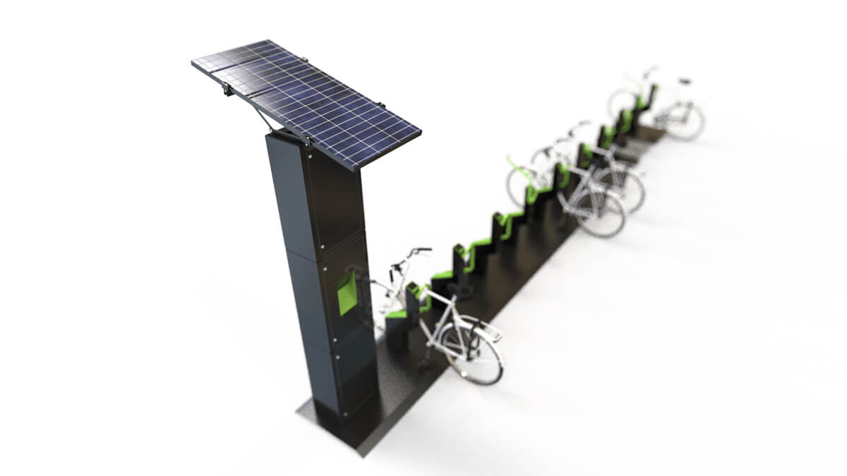 Solar panel option for bike barking