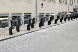 Commercial bicycle racks