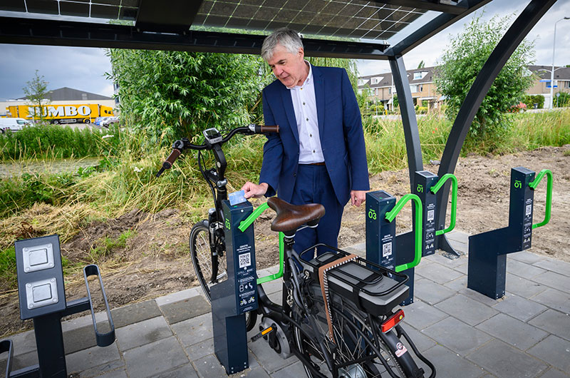 The cycling haven the Netherlands introduces Bikeep solar-powered e-bike station
