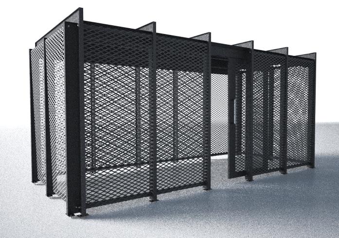Secure Bike Storage Sheds - metal