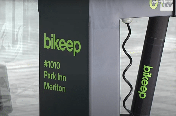First ever Bikeep Scooter Rental Station in Radisson Meriton hotel