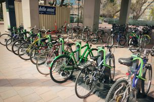 Outdoor bike storage solutions