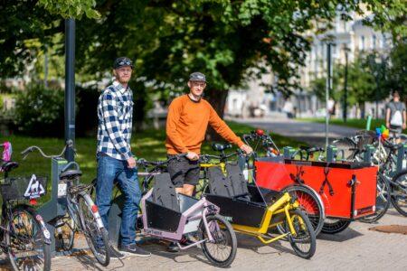 Popular cargo bikes parking in Bikeep