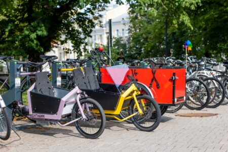 Cargo bikes in Bikeep