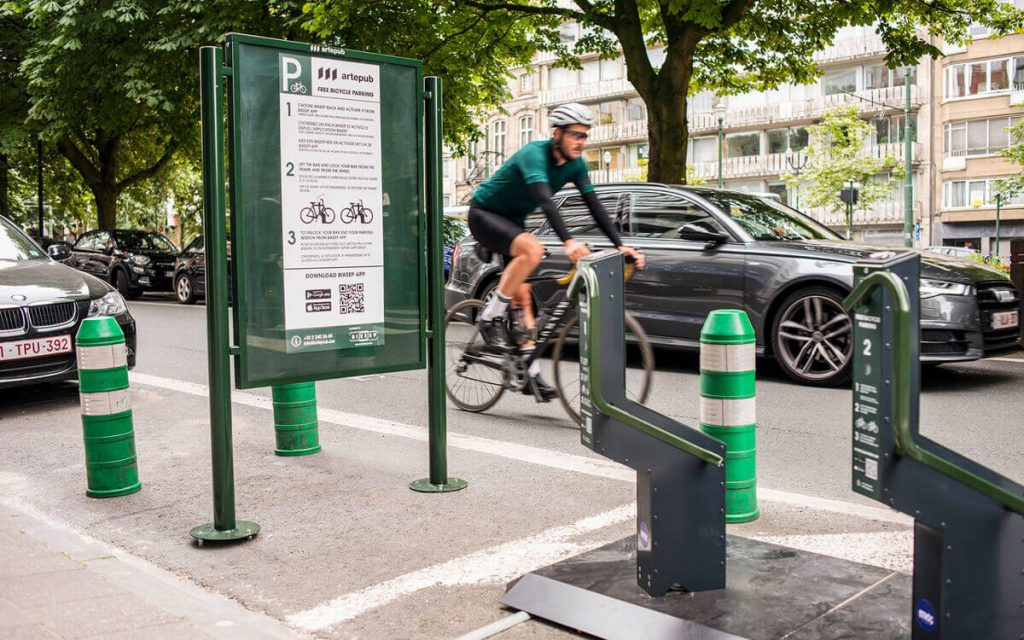Public bike racks in Belgium