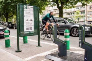 Public bike racks in Belgium