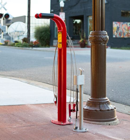 Bicycle public work stand
