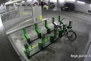 Reykjavik garage bike parking place