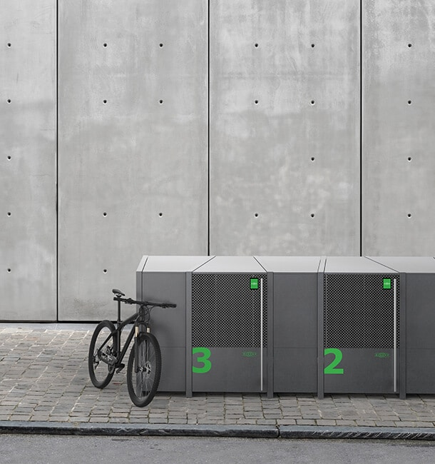 Metal bike lockers