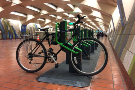 Smart bike parking for metro