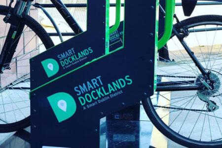 Smart commercial bike rack in Dublin