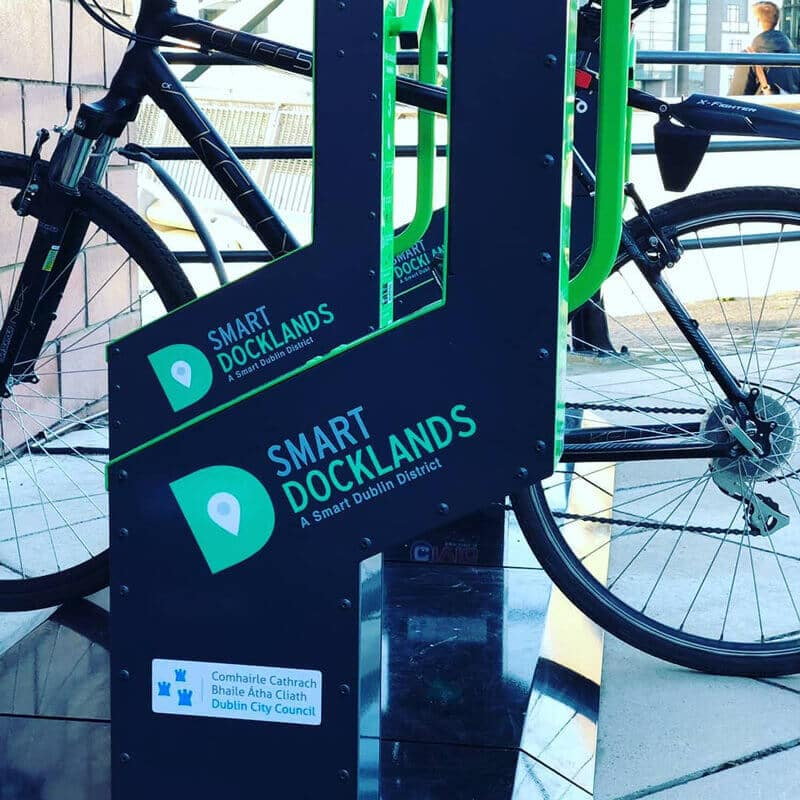 Smart commercial bike rack in Dublin