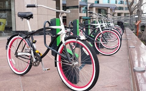 Smart commercial bike racks at US Legacy Partners
