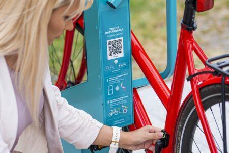 E-bike charging in Bikeep station